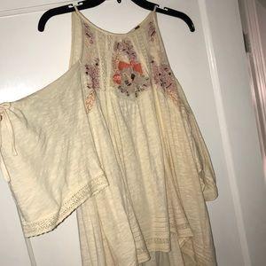 Women's open shoulder free people blouse